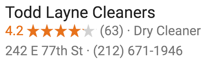 Todd Layne Cleaners Google Rating